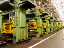 Mechanical manufacture. The equipment for processing metal Stock Photography