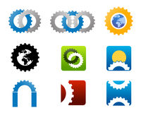 Mechanical manufacturing logo Stock Images