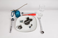Mechanical meal. Royalty Free Stock Images