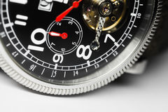 Mechanical men wrist watch fragment Stock Image