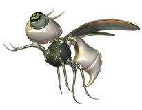 Mechanical metal insect Royalty Free Stock Photography