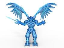 Mechanical monster. 3D CG rendering of a mechanical monster vector illustration