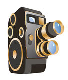 Mechanical movie camera Stock Image