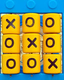 Noughts and Crosses Playground Game. Mechanical noughts and crosses game in a childrens playground Stock Photo