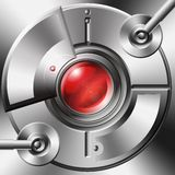 Mechanical Optic Device. Digital element prop with a techno theme Stock Photo