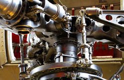 The mechanical parts of a helicopter propeller Royalty Free Stock Photos