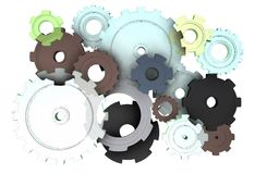 Mechanical parts in movement Stock Image