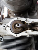 Mechanical parts of the old engine Royalty Free Stock Photography