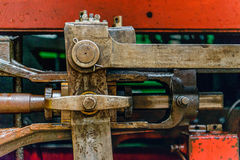 Mechanical parts of an old steam locomotive from close Royalty Free Stock Image