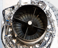 Mechanical parts of old turbine engine Royalty Free Stock Photo
