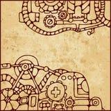 Mechanical pattern Stock Image