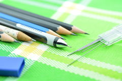 Mechanical pencil, Clutch-type pencil in normal pencil Royalty Free Stock Photos