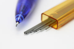 Mechanical pencil and leads Stock Images