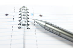 Mechanical pencil on a notepad Stock Photo
