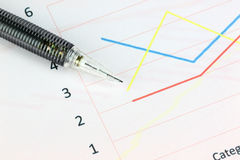 Free Mechanical Pencil Point To Point On Line Graphs. Stock Images - 38514744