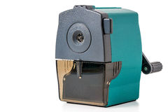 Mechanical pencil sharpeners. Shot on a white background mechanical pencil sharpeners Royalty Free Stock Images