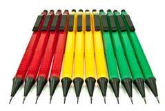 Mechanical pencils. Isolated on white background Stock Photos