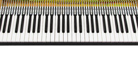 Mechanical piano keyboard Stock Photos
