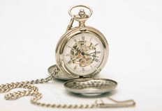 Mechanical pocket clock Stock Images
