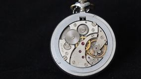 Mechanical pocket watch stock video