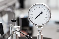Mechanical pressure gauges. Royalty Free Stock Image