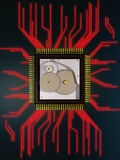Mechanical processor. Background possible to use for printing and project Royalty Free Stock Image