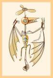 Mechanical pterodactyl. Steampunk,  illustration Royalty Free Stock Image