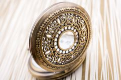 Mechanical retro styled pocket watch. In view Stock Images