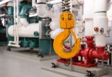 Mechanical room. In modern commercial building stock photo