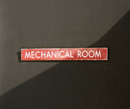 Mechanical Room Sign Stock Photos