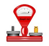 Mechanical commodity scales on a white background royalty free stock photo