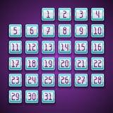 Mechanical scoreboard numbers calendar Stock Images