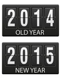 Mechanical scoreboard old and the new year vector illustration. Isolated on white background Stock Illustration