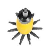Mechanical screwdriver and set of the heads Royalty Free Stock Photography