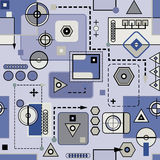 Mechanical seamless pattern II Royalty Free Stock Image