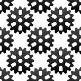 Mechanical sesamless pattern with cogwheels or Stock Images