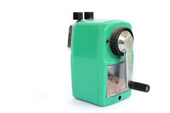 Mechanical sharpener. On the white background Royalty Free Stock Image
