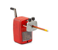 Mechanical sharpener of pencil stock photography
