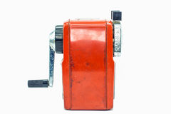Mechanical sharpener of pencil isolated on white background Royalty Free Stock Image