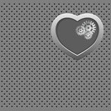 Mechanical Silver heart. Stock Photography