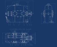Mechanical sketch Stock Photos
