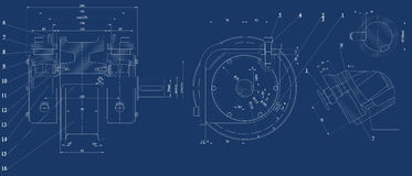 Mechanical sketch Royalty Free Stock Image