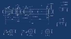 Mechanical sketch Stock Photography