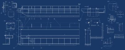 Mechanical sketch Stock Image