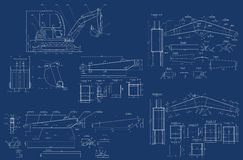 Mechanical sketch Stock Photo