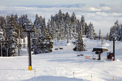 Mechanical ski lift, mt. Hood Oregon. Royalty Free Stock Images