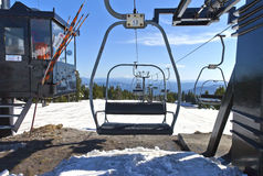 Mechanical skii lift chairs Mt. Hood Oregon. Stock Image