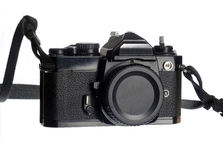 Mechanical SLR camera Stock Images
