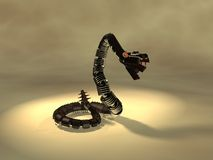 Mechanical snake Royalty Free Stock Images