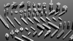 Mechanical spare parts. Set of mechanical spare parts stock images